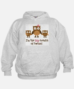 Big Cousin of Twins - Mod Owl Hoodie