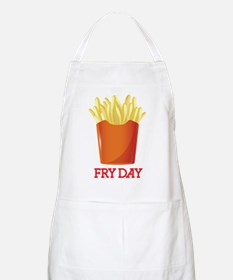French fries day or Friday Apron