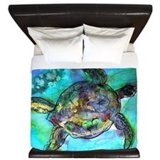Sea Turtle, wildlife, art, King Duvet