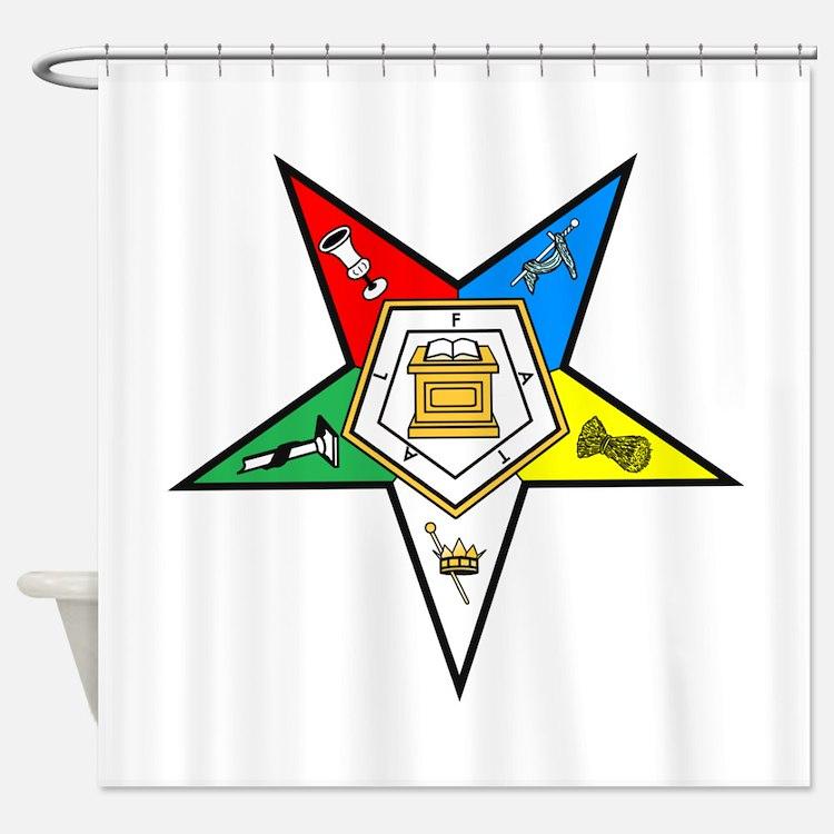 Order Of Eastern Star Shower Curtains Order Of Eastern
