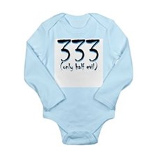 333 (only half evil) Long Sleeve Infant Bodysuit