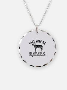 Mess With My Belgian Laekenois Necklace Circle Cha