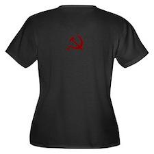 Communist Women's Plus Size V-Neck Dark T-Shirt