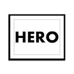HERO - Framed Panel Print