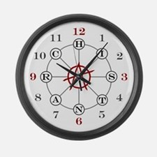 Anarchist Large Wall Clock
