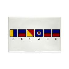 Nautical Keowee Rectangle Magnet