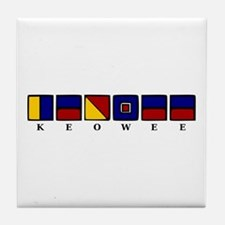 Nautical Keowee Tile Coaster