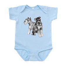 two schnauzers Infant Bodysuit