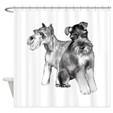 two schnauzers Shower Curtain