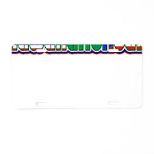 HawaiiAfroRican Aluminum License Plate