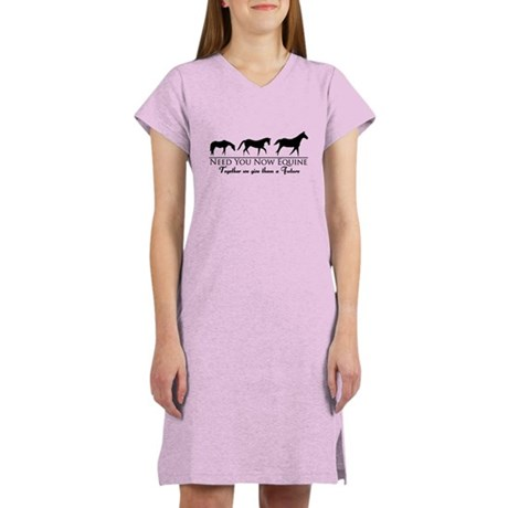 Need You Now Equine Womens Nightshirt