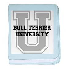 Bull Terrier UNIVERSITY baby blanket