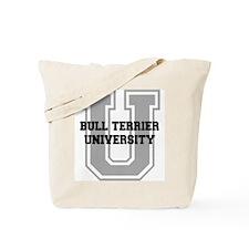 Bull Terrier UNIVERSITY Tote Bag