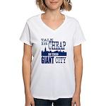 Giant City. Women's V-Neck T-Shirt