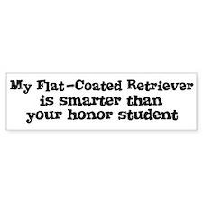 Honor Student: My Flat-Coated Bumper Bumper Sticker