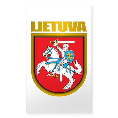 """Lithuania COA"" Sticker (Rectangle)"