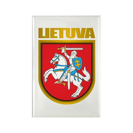 """""""Lithuania COA"""" Rectangle Magnet (10 pack)"""