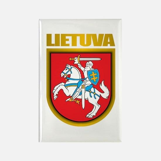 """""""Lithuania COA"""" Rectangle Magnet"""