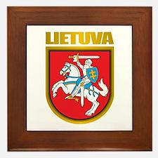"""""""Lithuania COA"""" Framed Tile"""