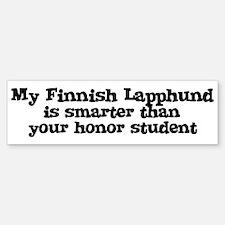 Honor Student: My Finnish Lap Bumper Bumper Bumper Sticker