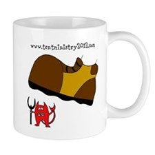 Stamping out the devil Mug