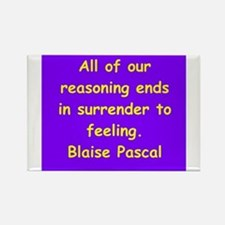 blaise pascal Rectangle Magnet