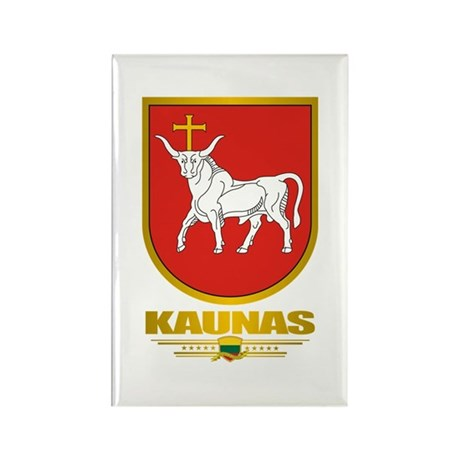 """Kaunas"" Rectangle Magnet (10 pack)"