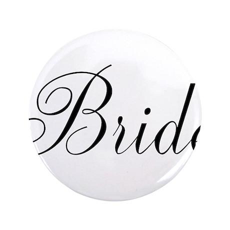 """Bride Black Script 3.5"""" Button (100 pack)"""