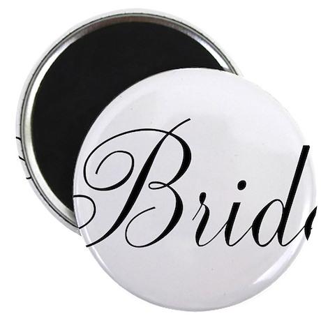 """Bride Black Script 2.25"""" Magnet (10 pack)"""