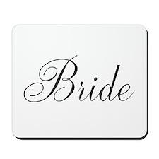 Bride Black Script Mousepad
