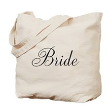 Bride Black Script Tote Bag