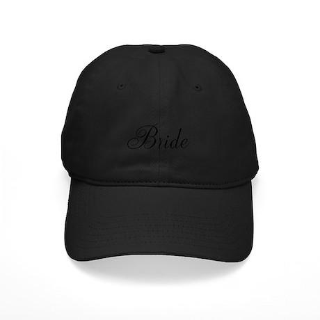 Bride Black Script Black Cap