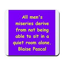 blaise pascal Mousepad