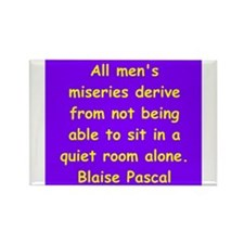 blaise pascal Rectangle Magnet (100 pack)