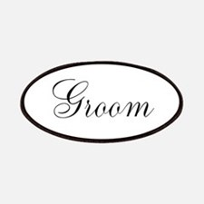 Groom Black Script Patches