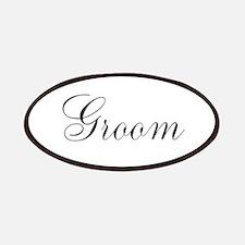 Groom Black Script Patches