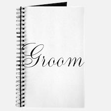 Groom Black Script Journal
