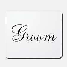 Groom Black Script Mousepad