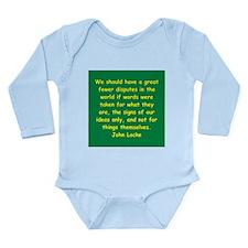 john locke Long Sleeve Infant Bodysuit