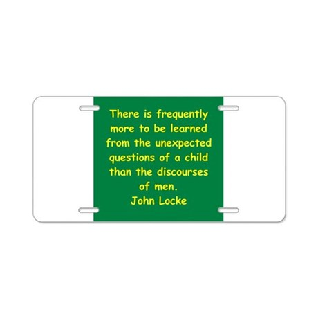 john locke Aluminum License Plate