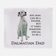 Dalmatian Dad Throw Blanket