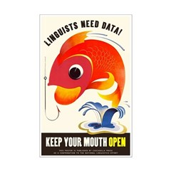 """Linguists Need Data Poster (11""""x17"""")"""