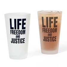 Cute Life slogan Drinking Glass