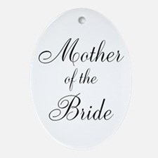 Mother of the Bride Black Scr Ornament (Oval)