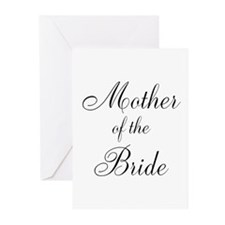Mother of the Bride Black Scr Greeting Cards (Pk o