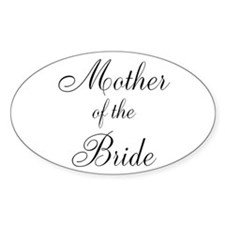 Mother of the Bride Black Scr Decal