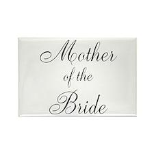 Mother of the Bride Black Scr Rectangle Magnet