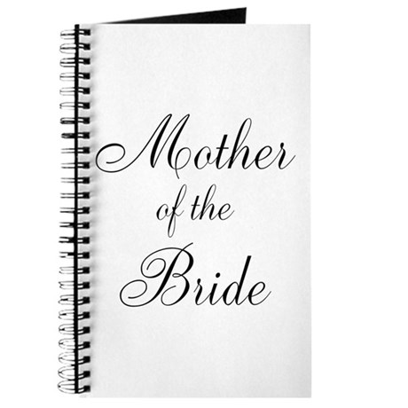 Mother of the Bride Black Scr Journal