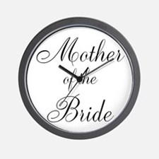 Mother of the Bride Black Scr Wall Clock