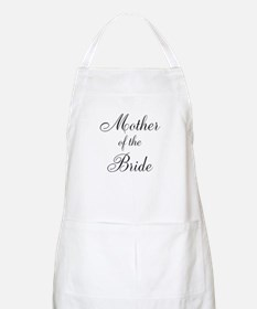 Mother of the Bride Black Scr Apron